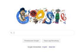 Google doodle tentang Benyamin Sueb.