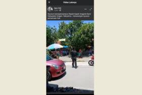 Tangkapan layar  postingan Agus Zaki tentang hajatan di Sukodono Sragen yang dibubarkan polisi, Rabu (30/9/2020). (Istimewa-Facebook)