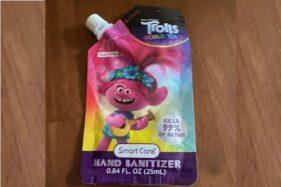 Kemasan hand sanitizer yang dianggap mirip dengan makanan bayi di Kanada. (Mirror)