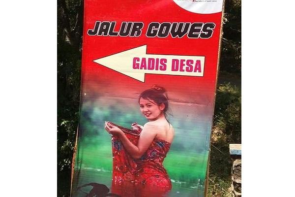 Viral Jalur Gowes Gadis Desa, Pesepeda Bisa Foto dengan Wanita Berkemben di Tepi Sungai