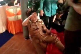 Viral Video Kepala Desa Gantar Kesurupan Setelah Lihat Tari Jaipong