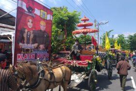 Senang Paslon Mulyo Mendaftar ke KPU Klaten Naik Kereta Kencana, Pemilik Tak Tarik Biaya