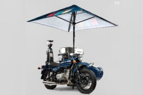 Modifikasi sepeda motor Ural menjadi kafe keliling. (Detik.com/Bike Exif)