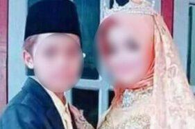 Pasangan siswa SMP usia 15 tahun dan 12 tahun dinikahkan karena terlambat pulang di NTB. (Detikcom-istimewa)