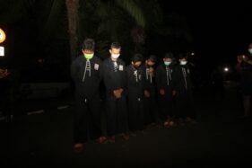 Beberapa pelajar SMP asal Ngawi, Jawa Timur, yang ditangkap polisi di Plaza Manahan, Solo, Selasa (22/9/2020) malam. (Solopos/Nicolous Irawan)