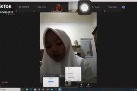 Lupa Matikan Kamera, Siswi Ketahuan Rebahan Saat Belajar Online