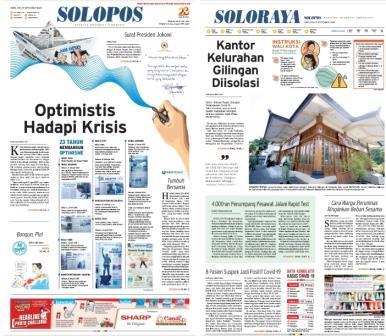 Solopos Hari Ini: Optimistis Hadapi Krisis