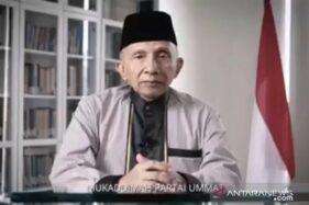 Politisi senior Amien Rais mengumumkan pembentukan Partai Ummat melalui saluran Youtube resminya, Kamis. (Istimewa)