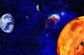 Mars dan bumi. (Bisnis)
