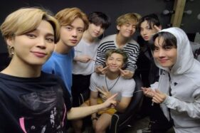 Foto BTS ketika berada di agensi Big Hit Entertainment, Rabu (14/10/2020). (Koreaboo.com)