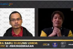 Redaktur Pelaksana Solopos Danang Nur Ihsan dan Program Initiator DSC Edric Chandra (kanan). (Tangkapan Layar)