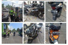 Kondisi motor korban yang mengalami kecelakaan. (istimewa)