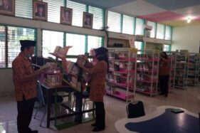 Suasana di perpustakaan SMAN 3 Salatiga, Jawa Tengah (Jateng) yang nampak lenggang, Selasa (20/10/2020). (Semarangpos.com-Imam Yuda S.)