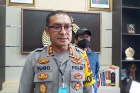 Kapolres Sukoharjo AKBP Bambang Yugo Pamungkas,  memberikan keterangan kepada pers terkait kasus pembunuhan istri dokter pada Kamis (22/10/2020). (Espos/ Indah Septiyaning W.)