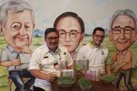 launching 'Sayur Supermini' atau Microgreen Kit, di Purwakarta, Rabu (21/10).