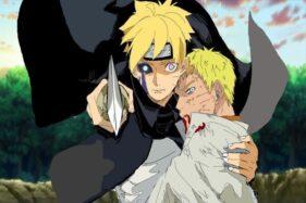 Foto Naruto yang terluka parah di Chapter 51 manga Boruto, Kamis (22/10/2020). (Manga Plus)