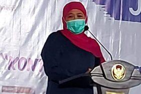 Gubernur Jawa Timur Khofifah Indar Parawansa membuka Konferwil Asosiasi Media Siber Indonesia Jawa Timur (AMSI Jatim). (Istimewa)