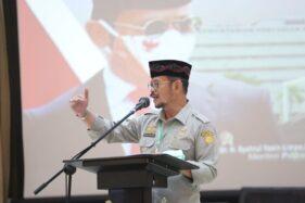 Mentan Syahrul Yasin Limpo saat syukuran bersama yatim piatu di Auditorium Kementan, Senin, 26 Oktober 2020.