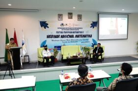 Wakil Wali Kota Salatiga, Muh Haris, memberikan sambutan dalam acara Festival Pendidikan Matematika III yang digelar di Kampus IAIN Salatiga, Senin (26/10/2020). (Semarangpos.com-Humas Setda Kota Salatiga)