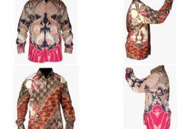 Kemeja batik prototupe bermotif Sanggit. (Istimewa)