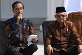 Presiden Jokowi dan Wapres KH Ma'ruf Amin. (Antara)