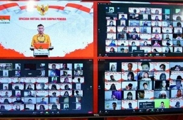 Upacara Virtual Sumpah Pemuda BEM Nusantara Diganjar Rekor Muri
