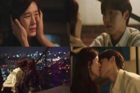 Foto aktor Lee Do-Hyun dan Kim Ha-Neul saat adegan ciuman di drama 18 Again, Selasa (27/10/2020). (JTBC)