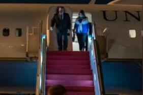 Menteri Luar Negeri AS Mike Pompeo tiba di Indonesia, Kamis (29/10/2020). (Bisnis-Nancy Junita@SecPompeo)