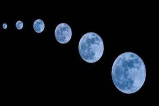 Ilustrasi blue moon atau bulan purnama biru. (Bisnis)
