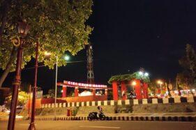 Suasana Alun-Alun Giri Krida Bakti Wonogiri pada malam hari beberapa waktu lalu.  (Solopos/M. Aris Munandar)