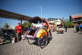 Dicat Warna-Warni, Bakal Tak Ada Lagi Becak Kumuh di Kota Madiun