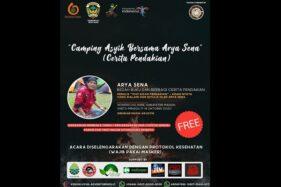 Poster acara bedah buku dan berbagi cerita pendakian. (Istimewa)