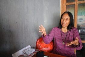 Langgeng Puji Astuti, 58, warga Jl. Kemuning, Kelurahan Oro-Oro Ombo, Kecamatan Kartoharjo, Kota Madiun. (Abdul Jalil/Madiunpos.com)