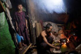 Hunian kumuh di Myanmar. (Reuters)
