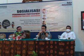 Bawaslu Kota Solo menggelar sosialisasi pengawasan partisipatif di Kusuma Sahid Prince Hotel Solo, Kamis (22/10/2020). (Istimewa)