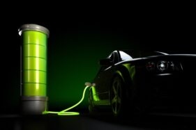 Ilustrasi baterai mobil listrik (Freepik)