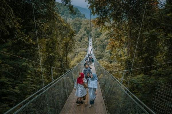 Jembatan gantung terpanjang di Asia Tenggara berada di Sukabumi (Instagram)