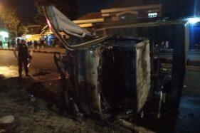 Duh, Truk Satpol PP Sukoharjo yang Dibakar Saat Demo Biasa untuk Penertiban PKL dan Reklame Liar