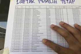 Ilustrasi daftar pemilih tetap pada pemilu atau pilkada. (Antara)