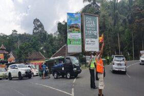 Situasi jalur menuju destinasi wisata di Tawangmangu, Karanganyar terpantau ramai lancar pada Kamis (29/10/2020) siang. (Istimewa/ Polres Karanganyar)