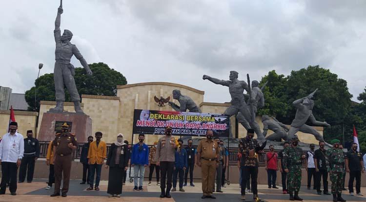Monumen Juang 45 Klaten Jadi Tempat Deklarasi Menolak Demo Anarkistis