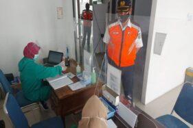 Ruang pelayanan rapid test di Stasiun Madiun, Senin (27/10/2020). (Istimewa/KAI)