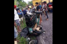 2 ABG Naik Motor Roda 3 Kecelakaan di Tangen Sragen, 1 Meninggal
