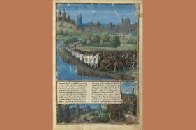 Naskah abad pertengahan yang diterangi menggambarkan Perang Salib Rakyat 1096. (Wikipedia.org)