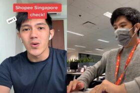 Tangkapan layar video kerja di Shopee Singapura. (Tiktok/ AdityaZulfahmi)