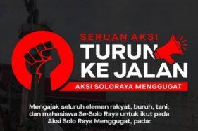 Izin Demo Dipersulit Polisi, Aksi Soloraya Menggugat Bergema di Twitter