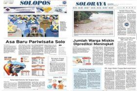 Koran Solopos hari ini mengulas tentang asa baru pariwisata Solo.