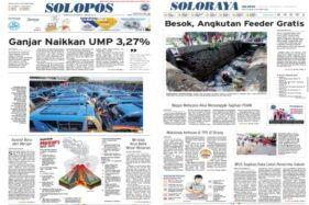 Solopos Hari Ini: Ganjar Naikkan UMP 3,27%