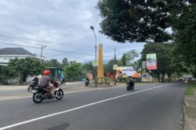 Tugu Ngipik yang ada di perbatasan antara Kecamatan Karanganyar dan Karangpandan (Candra Mantovani)