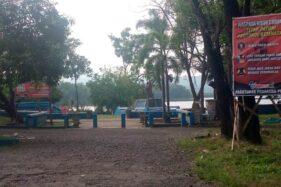 Suasana Kawasan Plaza Waduk Gajah Mungkur (WGM) Wonogiri yang masih ditutup. (Istimewa)